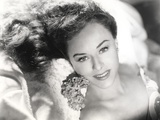 Paulette Goddard smiling white Lying Close Up Portrait Photo by  Movie Star News