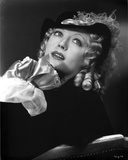 Marion Davies posed wearing Black Dress in Black and White Photo by  Movie Star News