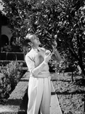 Fred Astaire Looking at a Tree in Black and White Photo by J Miehle
