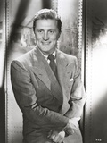 Kirk Douglas smiling in Formal Outfit with Necktie Photo by  Movie Star News