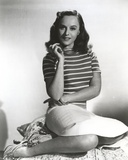 Paulette Goddard Posed in Stripe Blouse and Skirt Portrait Photo by  Movie Star News