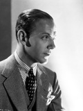 Fred Astaire Posed with Sideburns in Black and White Photo by E Bachrach