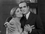 Al Jolson hugging an Old Woman in a Classic Movie Scene Photo by  Movie Star News