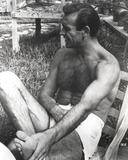 Sean Connery sitting on Chair, wearing White Underwear Photo by  Movie Star News