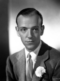 Fred Astaire in Formal Outfit Black and White Portrait Photo by E Bachrach