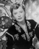Barbara Stanwyck Close-up in Floral Dress Classic Portrait Photo by AL Schafer
