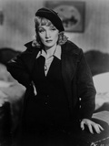 Marlene Dietrich Posed In Black Suit with White Collar Photo by  Movie Star News