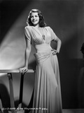 Rita Hayworth Leaning on Table with a Beautiful Pose Photo by A.L. Schafer