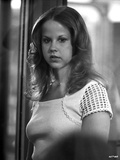 Linda Blair standing in White Dress Classic Portrait Photo by  Movie Star News