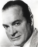 Bob Hope smiling in Close Up Portrait Black and White Photo by  Movie Star News