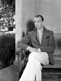 Fred Astaire Seated on Couch with Woman in Black Dress Photo by  Hendrickson