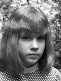 Linda Blair Classic Close Up Portrait in Black and White Photo by  Movie Star News