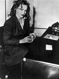 Frances Farmer on Dark Top with Cigarette on Hand Photo by  Movie Star News