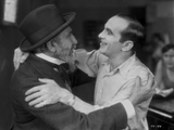 Al Jolson hugging a Man in Black and White Portrait Photo by  Movie Star News