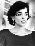 Annabella Sciorra Candid Shot in Black and White Portrait Photo by  Movie Star News