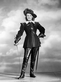 Maureen O'Hara in Fencing Outfit Black and White Photo by E Bachrach