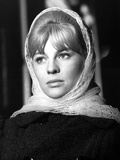 Julie Christie in Covered Hair with Scarf Portrait Photo by  Movie Star News