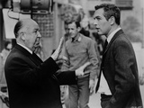 Hitchcock Alfred in Suit and Tie Talking to a Man Photo by  Movie Star News