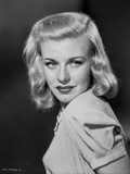 Portrait of Ginger Rogers Red lipstick Side View Angle Photo by E Bachrach