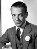 Fred Astaire Posed in Formal Suit in Black and White Photo by E Bachrach