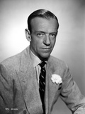 Fred Astaire Posed in Formal Suit Black and White Photo by Hal McAlpin