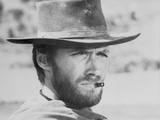 Clint Eastwood Fighting Stunts in Topless Portrait Photo by  Movie Star News