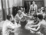 Twelve Angry Men Having a Meeting in Black and White Photo by  Movie Star News