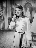 Ginger Rogers With Telephone Black and White Portrait Photo by  Movie Star News