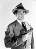 Sheldon Leonard in Coat With Pistol Classic Portrait Photo by  Movie Star News