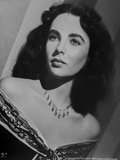 Elizabeth Taylor Classic Posed in Close-up Portrait Photo by CS Bull