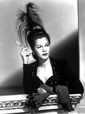 Maria Montez Looking Away in Black Dress with Headdress Photo by  Movie Star News