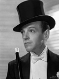 Fred Astaire Posed in Suit with Top Hat Black and White Photo by E Bachrach
