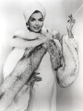 Ann Miller wearing a Fur Coat in Classic Portrait Photo by  Movie Star News