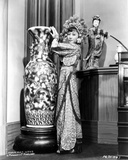 Anna Wong Holding on a Big Vase, wearing a Long Dress Photo by  Movie Star News