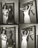 Julie Newmar in White Dress Portrait Black and White Photo by  Movie Star News