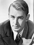 Alan Ladd Looking Close in Close Up Portrait in Classic Photo by  Movie Star News