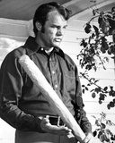 Joe Baker Posed in Black Long sleeve With Baseball Bat Photo by  Movie Star News