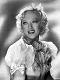 Marion Davies smiling in White Blouse with Floral Scarf Photo by  Movie Star News