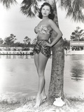 Rhonda Fleming Posed on a Tree wearing a Swimming Suit Photo by  Movie Star News