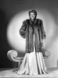 Rita Hayworth smiling in Fur Coat with Hand on Waist Photo by Robert Coburn