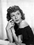 Mary Martin on Off Shoulder Top and Looking Up Portrait Photo by  Movie Star News