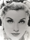 Debra Paget Close Up Portrait wearing Dangling Earrings Photo af  Movie Star News