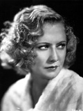 Miriam Hopkins on a Fluffy Ward Robe Cloth Portrait Photo by  Movie Star News