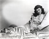Paulette Goddard Lying in Bed wearing Silk Dress Portrait Photo by  Movie Star News