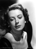 Deborah Kerr wearing Black Dress in Pearl Necklace Photo by  Movie Star News