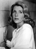 Jill Clayburgh Portrait in White Long Sleeve Silk Dress Photo by  Movie Star News