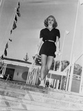 Ginger Rogers Curly Hair wearing Black Mini Skirt Photo by  Movie Star News