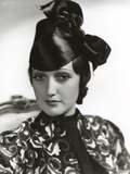 Dorothy Lamour Portrait in Black and White with Scarf Photo by  Movie Star News