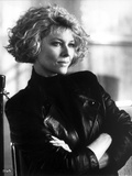 Kate Capshaw wearing Black Leather Jacket Portrait Photo by  Movie Star News