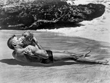 From Here To Eternity Couple Kissing Laying in Seashore Photo by  Movie Star News